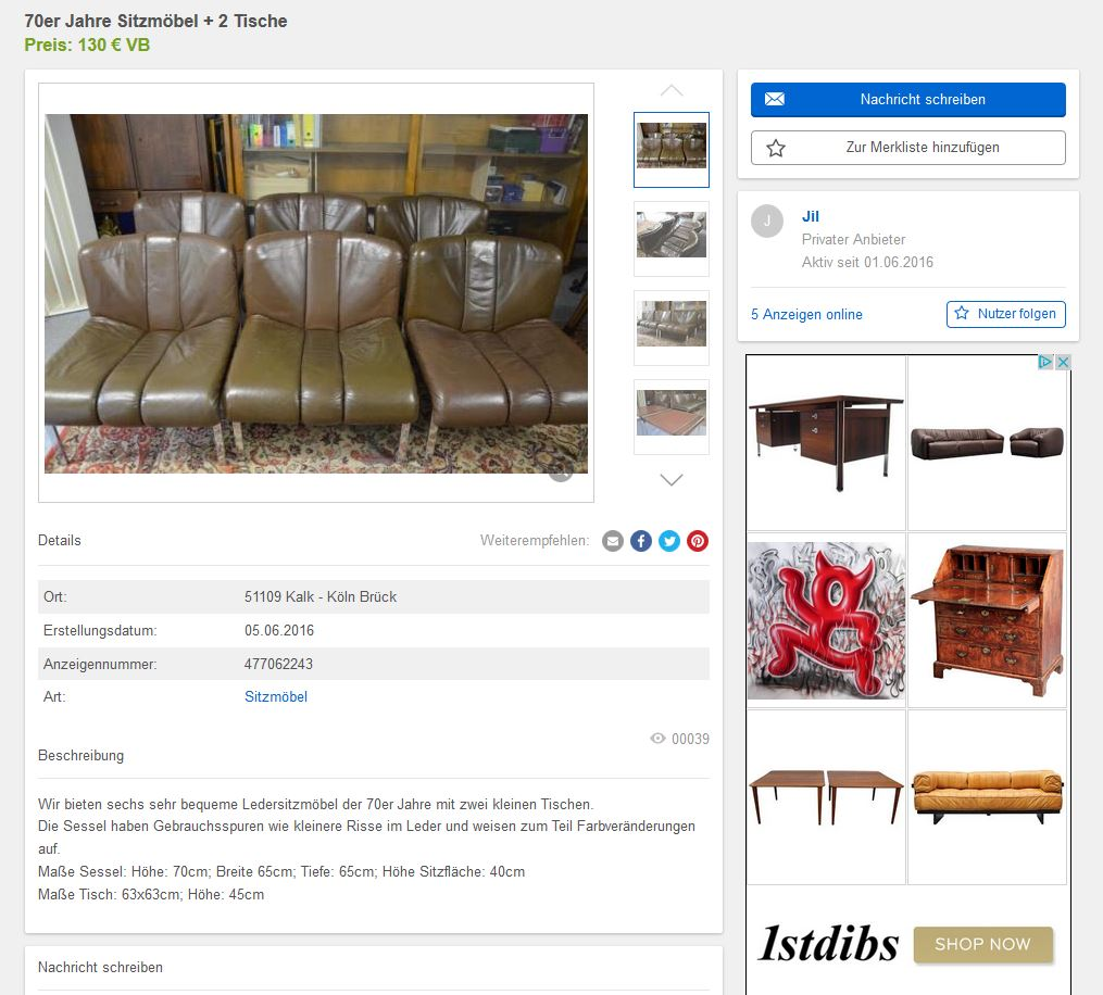 Gebrauchte Vintage Möbel - Design