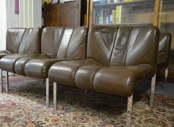 6 Girsberger Eurochair 1200 Easy Chair und 2 Tische Vintage 70er