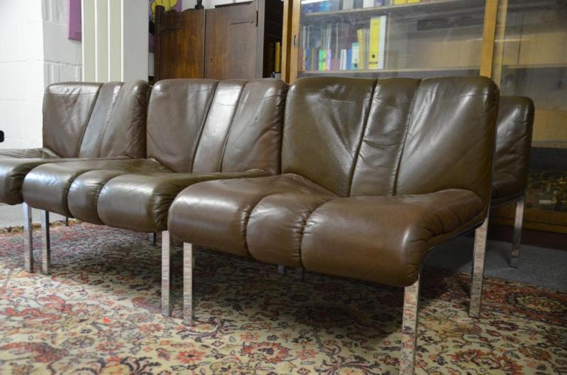 6 Girsberger Eurochair 1200 Easy Chair und 2 Tische Vintage 70er ...