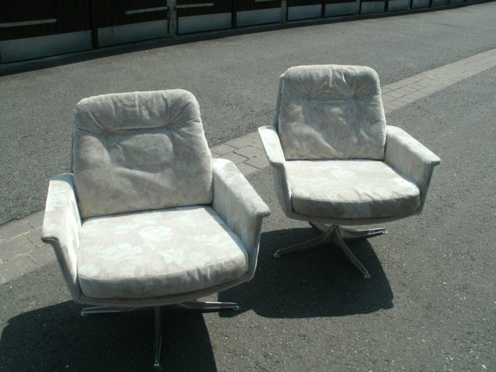 2 x cor sedia horst br ning ledersessel easy chairs 60er. Black Bedroom Furniture Sets. Home Design Ideas