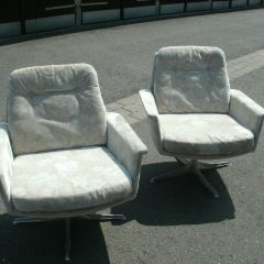 2 x COR Sedia Horst Brüning Ledersessel Easy Chairs 60er Vintage