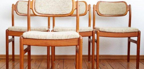 4 Danish Design Stühle Johannes Andersen für Uldum Teak 60er Midcentury Modern