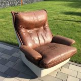 Airborne Lounge Chair Mark Held Space Age Ledersessel 70er Vintage