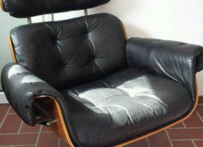 Lounge Chair im Charles Eames Stil 60er 70er Ledersessel