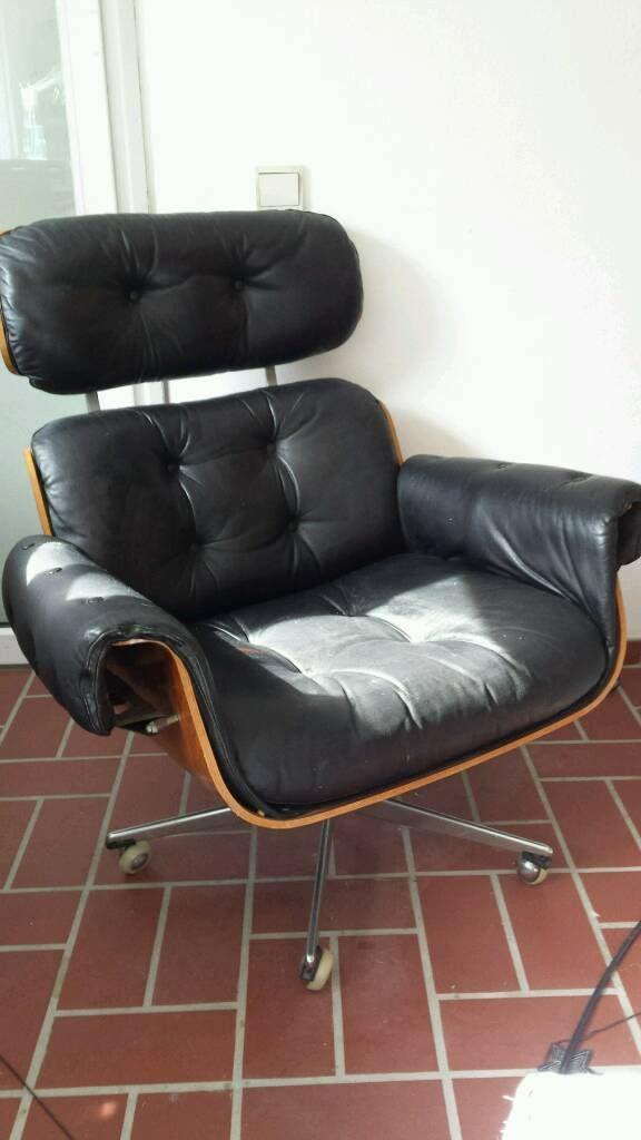 Lounge Chair Im Charles Eames Stil 60er 70er Ledersessel Ebay