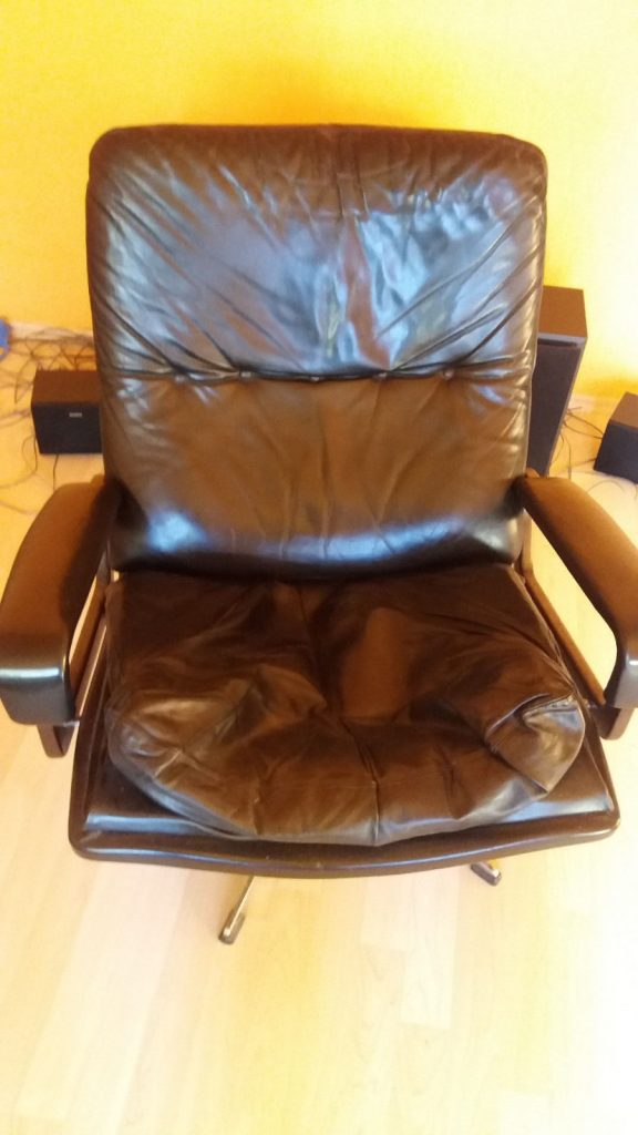 Strässle King Chair King Pouf Andre Vandenbreuck Lounge Sessel Leder 70er Designklassiker gebraucht