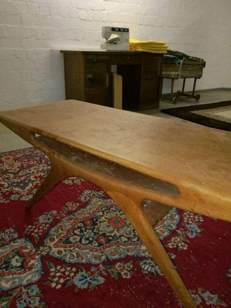 Johannes Andersen Smile Coffee Table CFC Silkeborg Danish Design Vintage Retro Klassiker